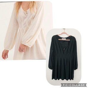 FP Beach Boho Dress Black XS #4676